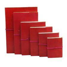 Notizbuch aus Leder - rot - Notebook