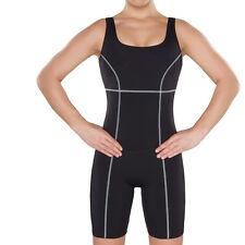 Damen knielanger Badeanzug Wettkampfanzug Schwimmanzug chlorbeständig  UV Schutz