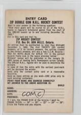 1962-63 Parkhurst #NoN Contest Card Hockey