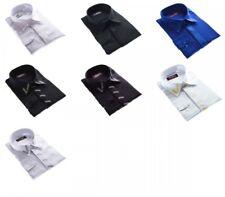 Designer Herren Hemd + Stick Bügelfrei K7F K2 Herrenhemd Langarm new Kent Kragen