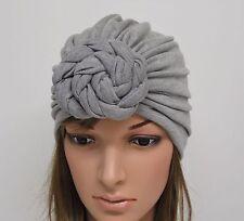 Grey Turban Hat, Viscose Jersey Turban, Fashion Turban, Front Knotted Turban