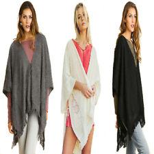 UMGEE Womens Chic  Boho Knit Bohemian Cardigan Sweater Kimonon Shawl Wrap S M L