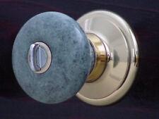 Genuine Marble Knob Lockset w/Gold/Chrome Finished fit interior/exterior door