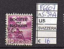 FRANCOBOLLI SVIZZERA USATI SERVIZI N°97A (F6607)