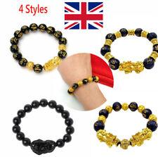Feng Shui Black Obsidian Pi Xiu Wealth Bracelet Attract Wealth&Good Luck Gift @^