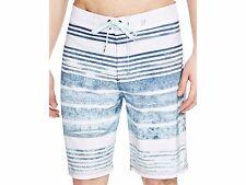 New HURLEY High Tide board shorts swim blue stripe PHANTOM 4way stretch 30 36 38