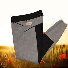 Reithose Sonnenreiter Bern, schwarz-grau kariert ,Vollbesatz Stiefelhose