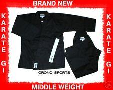 BLACK Middle Weight Karate Uniform Gi Size 1 BRAND NEW
