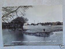 RPPC Steinhart Park, Nebraska City, NEB, Real Photo Postally Unused Postcard NE.