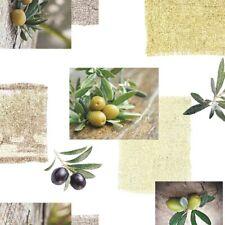 toile cirée nappe table au mètre olives c145191 carré rond ovale Lavable