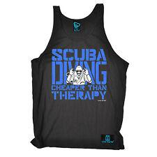 Scuba Cheaper Than Therapy Uni Vest Gear Dive Equipment Funny birthday gift