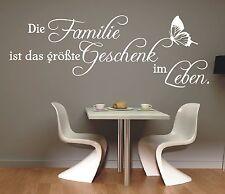 X3 Wandtattoo Spruch / Die Familie ist das größte Geschenk Leben Wandaufkleber 1