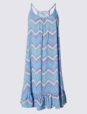 M & S COLLECTION CHEVRON BLUE MIX SKATER DRESS