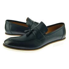 "Alex D ""Scottsdale"" Tassel Loafer, Men's Dress/Casual Leather Shoes, Navy"