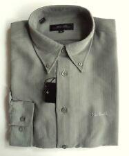 PIERRE CARDIN Mens Shirt Button Down Collar Long Sleeve Polynosic Sage Green