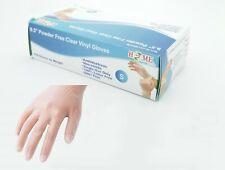 100 Pcs Vinyl Gloves, Single Use Powder Free Ambidextrous, Non-Sterile