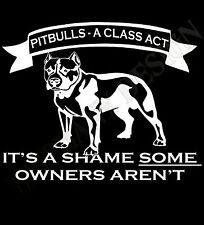 Pitbull Terrier Perro Manga Larga T Camisa Para Hombre & Mujer Muchos Colores Y Tamaños