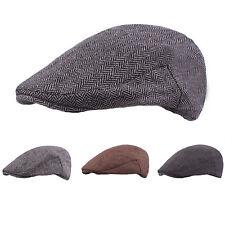 Newsboy Gatsby Cap Mens Warm Ivy Hat Golf Driving Flat Cabbie Beret Tweed Hats