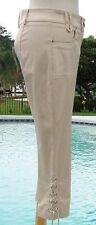 Cache Lace Up Bottom Satin Sheen Capri Pant New Size 0/2/4/6/8/10 XS/S/M $98 NWT