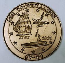 USN US NAVY USS CONSTELLATION CV-64 INSIGNIA SHIPS CREST AWARD PLAQUE