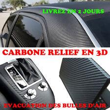 Film Vinyl CARBONE NOIR MAT 152x200cm 3D Anti Bulle Autocollant Sticker Adhesif