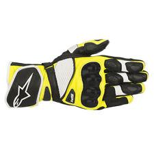 Alpinestars SP-1 V2 Black / White / Fluo Yellow Motorrad Leather Gloves