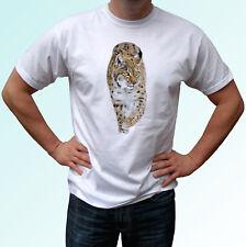 Lynx white t shirt animal tee top cat design - mens womens kids baby sizes