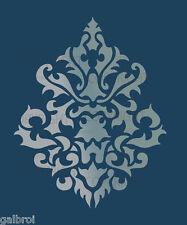 LARGE WALL DAMASK STENCIL PATTERN FAUX MURAL DECOR #1011 (Choose Custom Size)