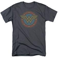 Wonder Woman Vintage Logo DC Comics Licensed Adult T Shirt