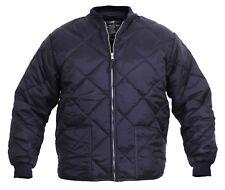 diamond quilted flight jacket navy blue military fashion jacket rothco 7160