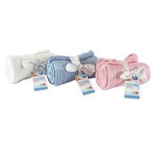 Baby Pram Blanket Soft 100% Pure Cotton Cellular Cosy 70x90cm Machine Washable