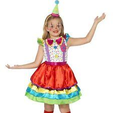 ragazze bambine Lusso Pagliaccio Costume Circo completo Nuovo Da Smiffys