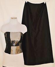 Vtg 2pc Black Jessica McClintock Cocktail Formal Long Skirt & Bodice Bustier 2