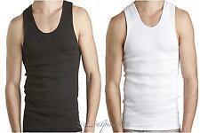 Mens Merino Wool Blend Seamless Thermal Singlet Top Underwear (2 colors)
