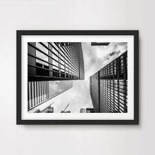 BLACK WHITE CITY CITYSCAPE MODERN PHOTO ART PRINT Poster Architecture Buildings