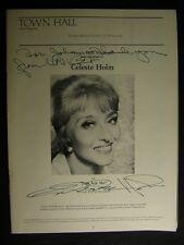 1976 Celeste Holm Just Ask Me Autographed Signed 8.5x11 Theatre Program OS11