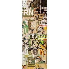 Affiche poster pour porte trompe l'oeil Graphiti Tag 571 Art déco Stickers
