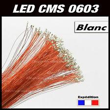 C195bl# LED CMS pré-câblé 0603 blanc fil émaillé 5 à 20pcs  - prewired LED