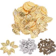 Fashion 50 Pcs Leaves Filigree Metal Crafts Jewelry DIY Accessories Pendant CL