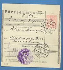 LATVIA LETTLAND MONEY ORDER CANCELLED RIGA TO MARCIENA  1934 U 2316
