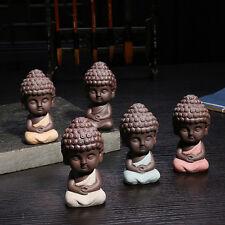 Cute Mini Buddha Statue Monk Figurine Tathagata India Yoga Mandala Sculpture XB