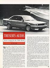 1985 Treser Audi  Road Test Classic Original Article