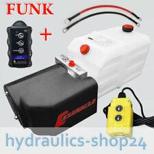 Hydraulikaggregat, Hydraulik Pumpe + FUNK,  12V 180 bar LKW Kipper Anhänger