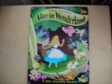 A Big Golden Book Disney's ALICE IN WONDERLAND 1973