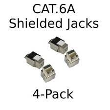 Cat.6A 10GRJ45 Ethernet LAN Network Shielded Keystone Jack 110 Punch Down 8P8C