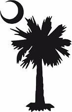 SC South Carolina Palmetto tree Crescent Moon Decal sticker U pick size & color