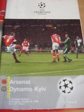 21/10/1998 Arsenal V Dinamo Kiev Coppa dei Campioni [] [a Wembley] (leggermente piegati). N
