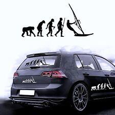 Autoaufkleber Sticker Autofolie Aufkleber Evolution Hund Windsurfen