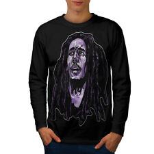 Face Celebrity Bob Marley Men Long Sleeve T-shirt NEW   Wellcoda