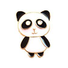 Negro Y Blanco Esmalte Panda Broche/Pin, múltiples opciones